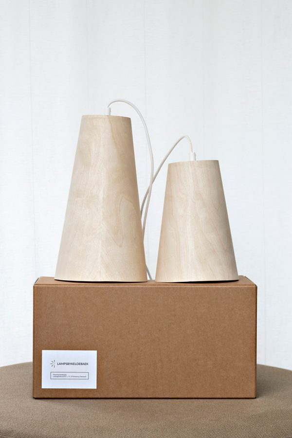 The Cone pendant - handmade Danish lamp design - two sizes